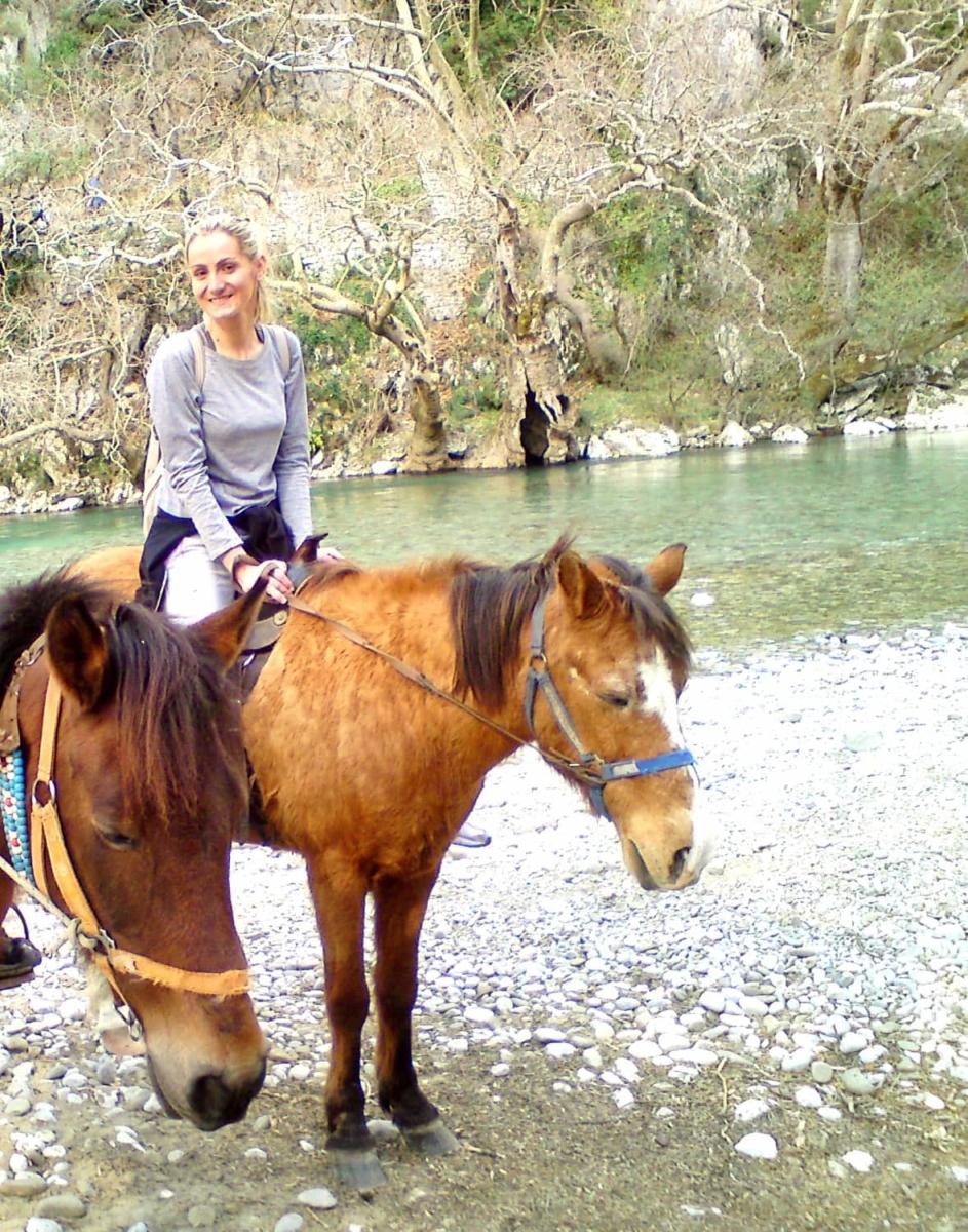 Ιππασία στο ποταμό Βοϊδομάτη