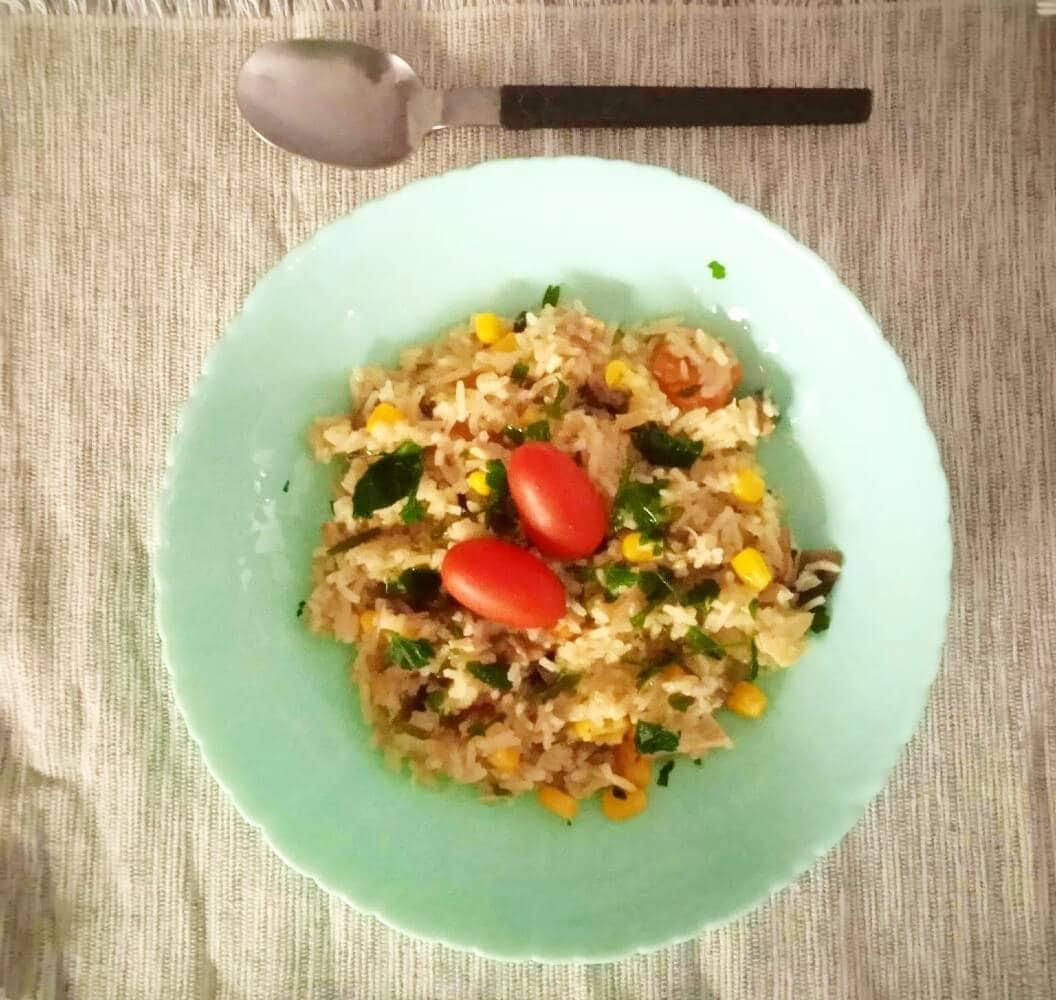Ρύζι μπασμάτι με κοτόπουλο και λαχανικά